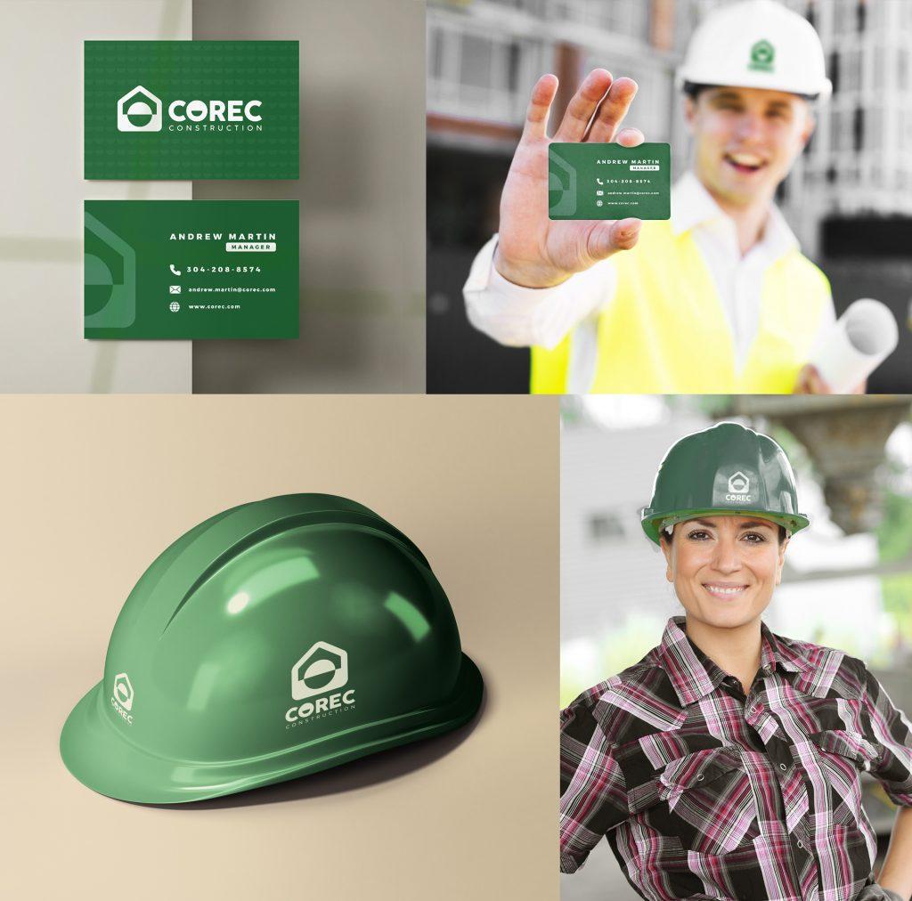 Branding Case Study - COREC Construction Logo and branding assets design
